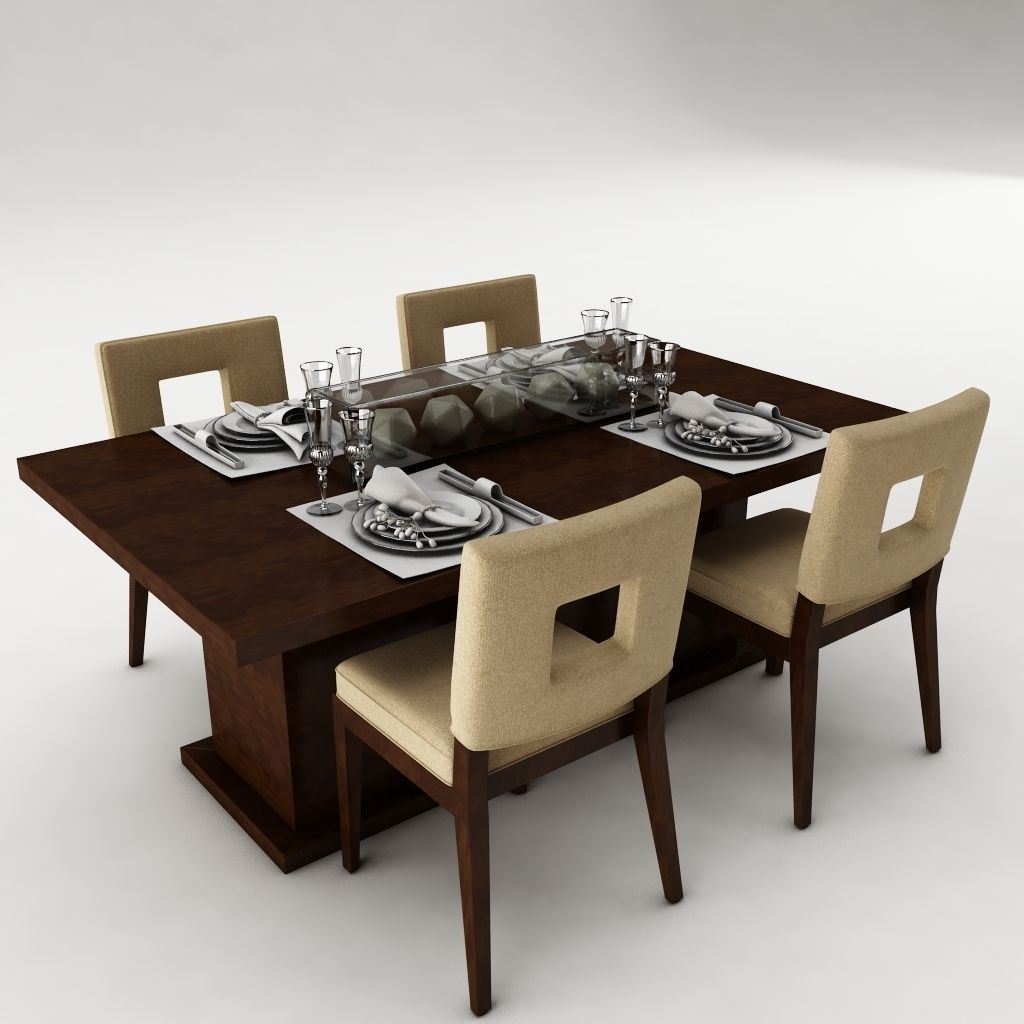 Dining Table Models 3d model dining table set architectural | cgtrader