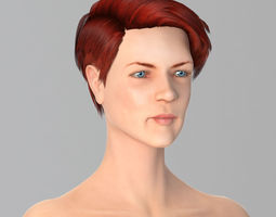 Miss Red Beauty 3D