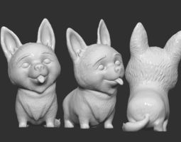 3D printable model Corgi Dog