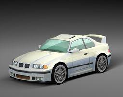 Cartoon Sport Car 3D asset