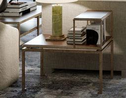 3D model antique brass cofee table auxiliar