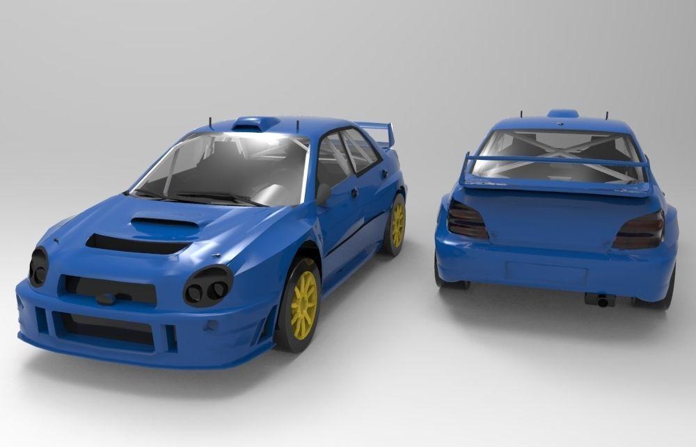 3D Model Subaru Impreza WRC 2001