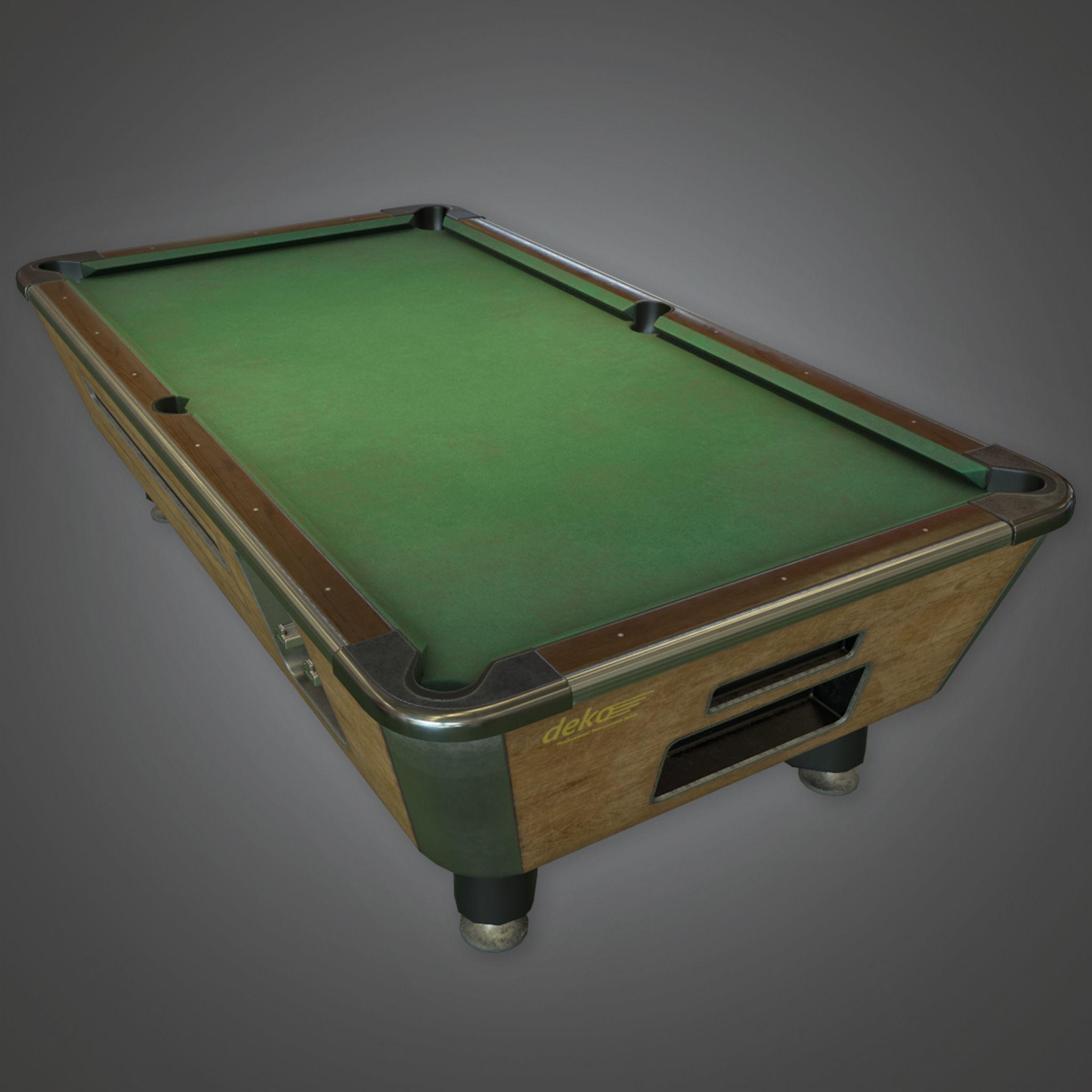 DVB - Pool Table - PBR Game Ready