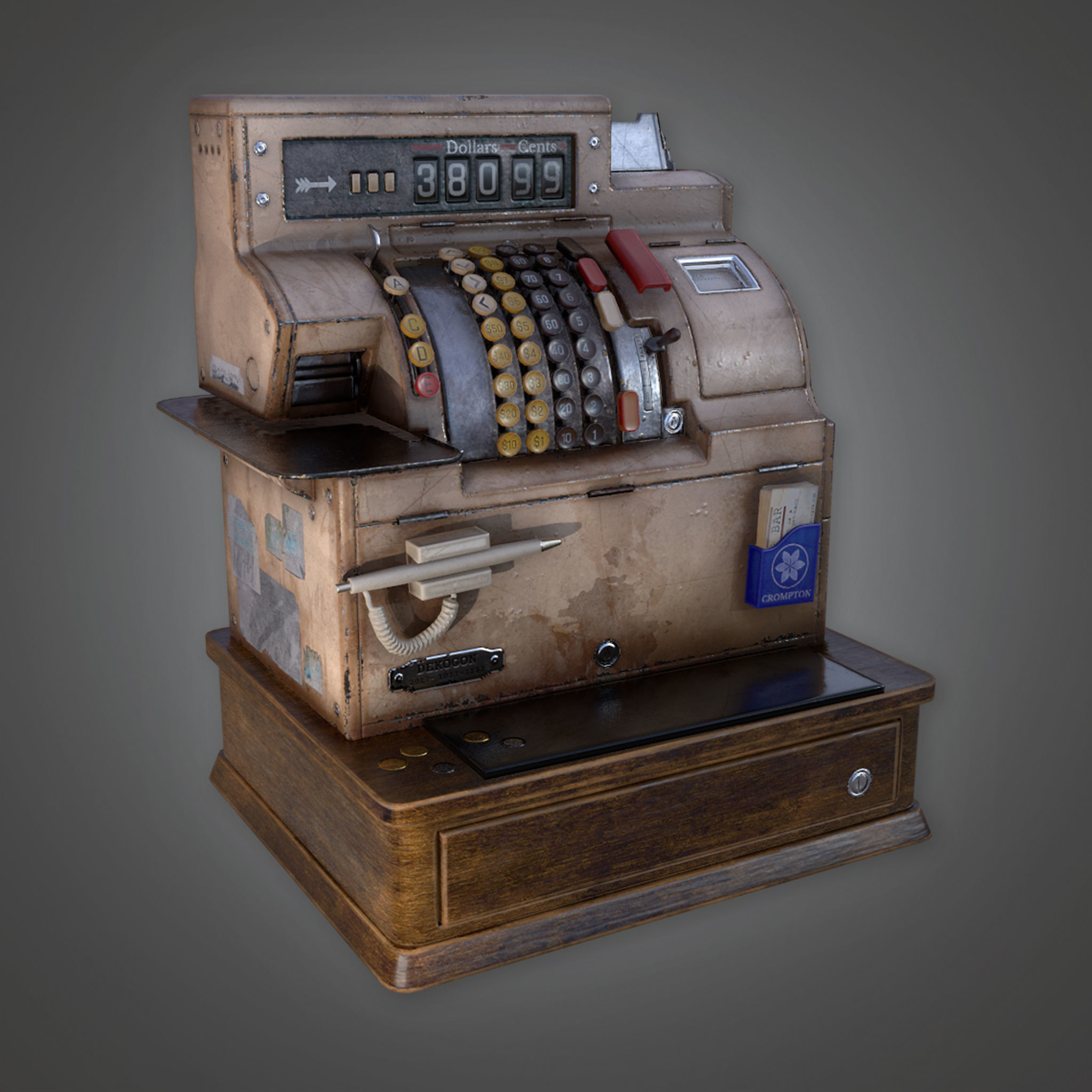 DVB - Cash Register - PBR Game Ready