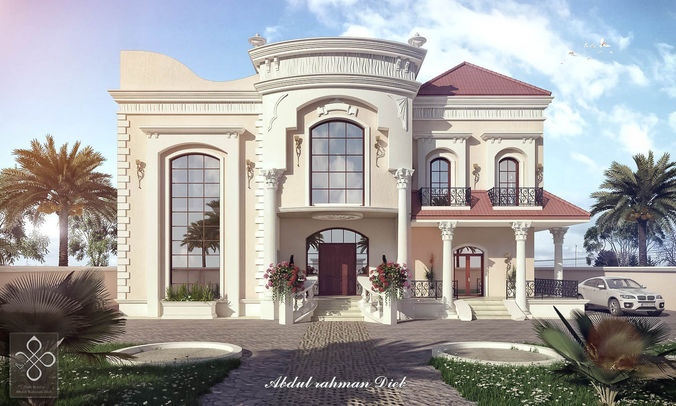Exterior: New Classic Villa 2 - B8 3D