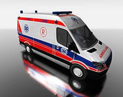 3d ambulance minibus for games