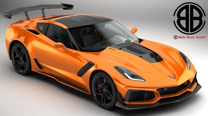 chevrolet corvette zr1 2019  3d model max obj mtl 3ds fbx c4d lwo lw lws 1