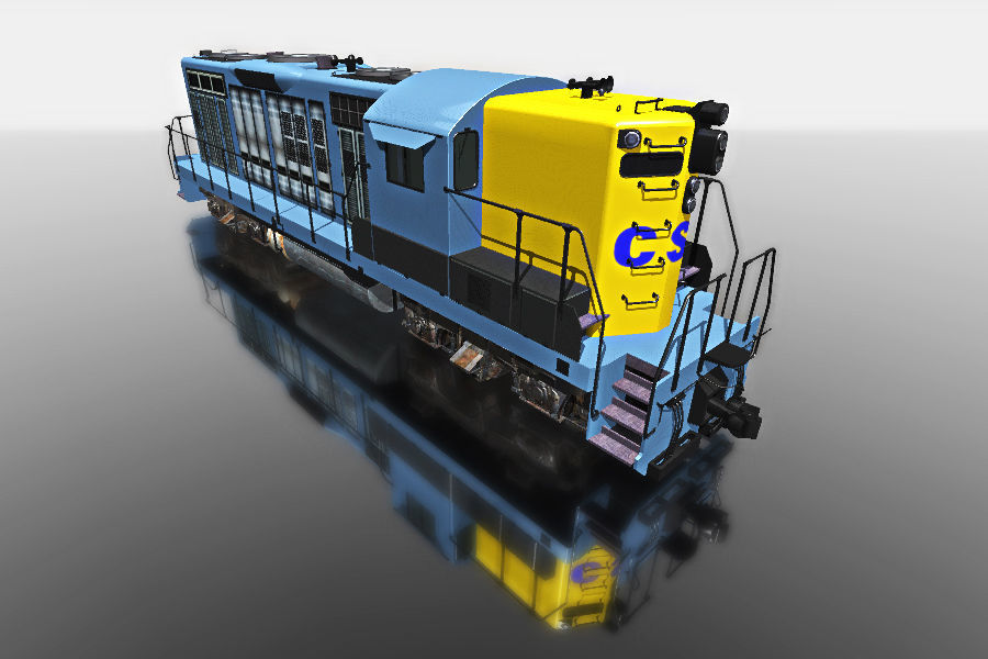 Blue Train Wagon For Games | 3D model