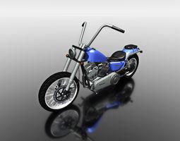 3d blue motorbike for games