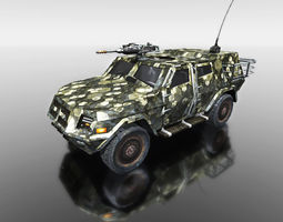 camouflage vehicle for games 3d