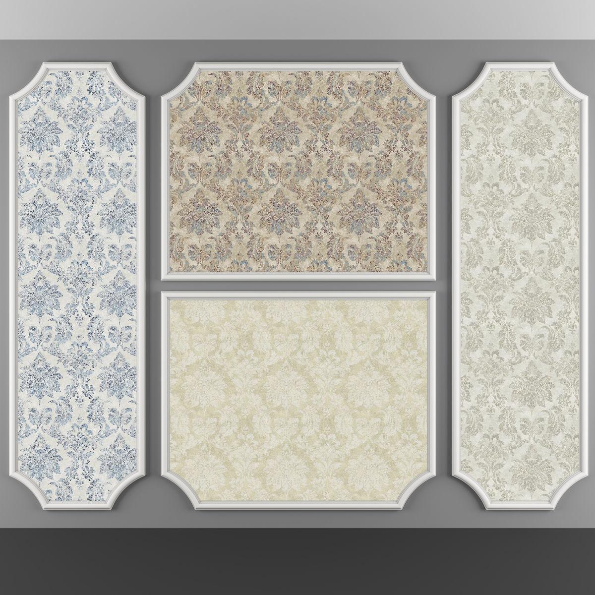 3D asset Wallpaper -99 4 Color   CGTrader