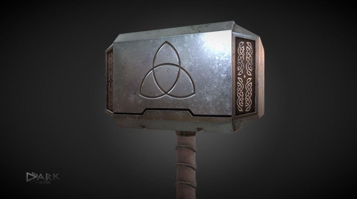 Mjolnir Thors Hammer 3D asset | CGTrader