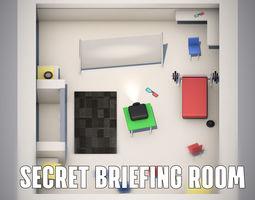 3D asset General Headquarters Secret Shelter Cell Briefing