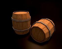 Wooden Barrel 3D asset realtime fun