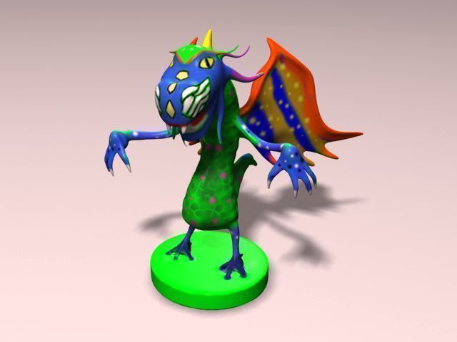 alebrije report Alebrije 3d printable model, formats stl, wrl, wrz, alebrije antiguo art artchallenge, ready for 3d animation and other 3d projects  report this model similar .