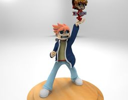 3D printable model scott pilgrim
