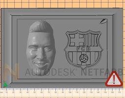 lionel messi - fc barcelona - 3d print ready frame