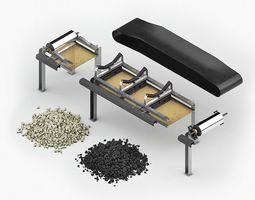 Modular mining conveyor belt 3D model