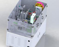 Hot pressing plastic sealing machine 3D model