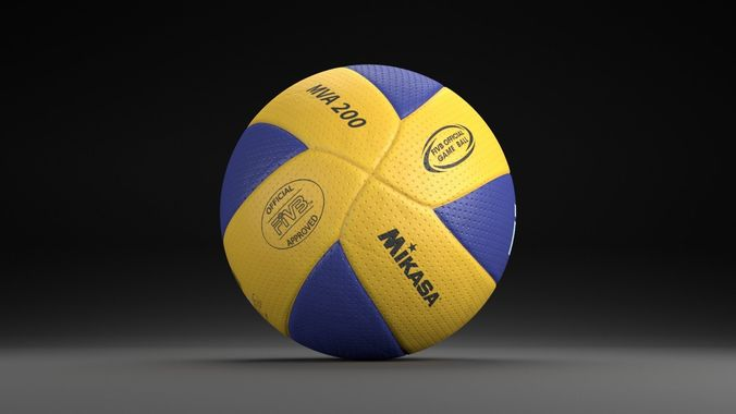 d5159d1476 mikasa mva200 official ball 3d model obj mtl blend 1 ...