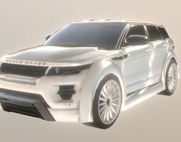 3D asset Land Rover Range Rover Evoque