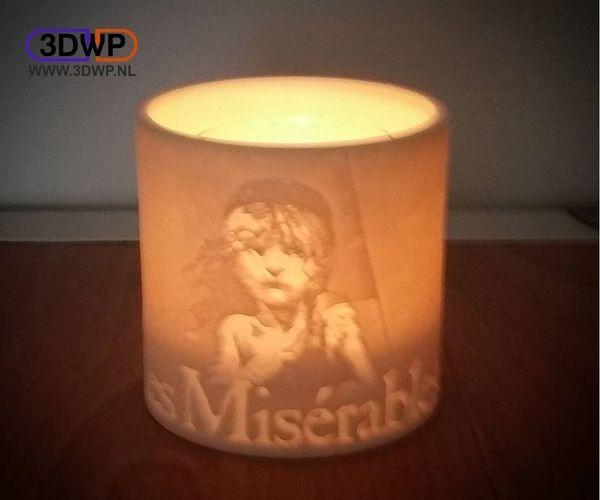 Les Miserables Lamp - Tea Light Holder