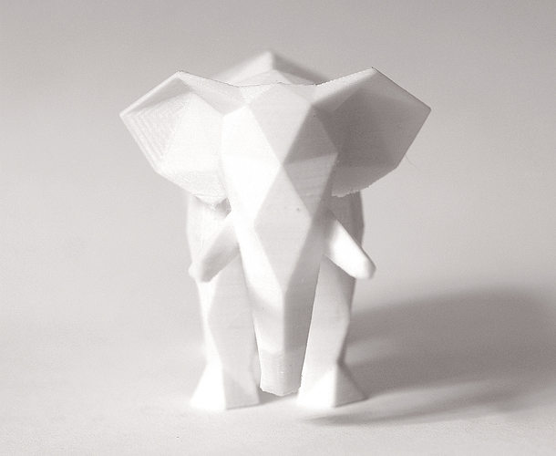 lowpoly elephant sculpture 3d model obj mtl 3ds stl 1