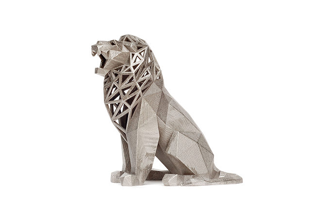 roaring lion 3d model obj stl 1