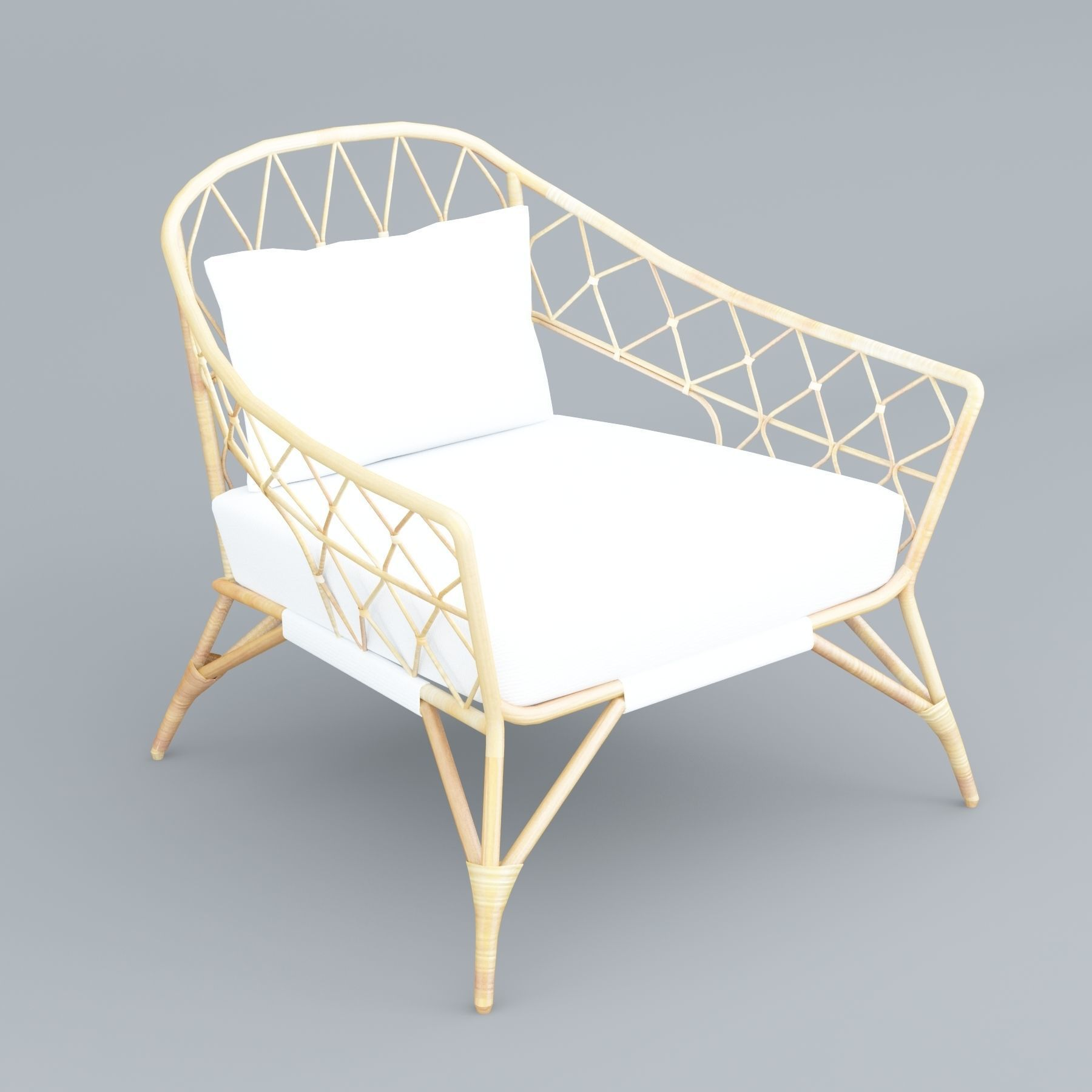 Excellent Stockholm Ikea Rattan Chair 3D Model Gmtry Best Dining Table And Chair Ideas Images Gmtryco