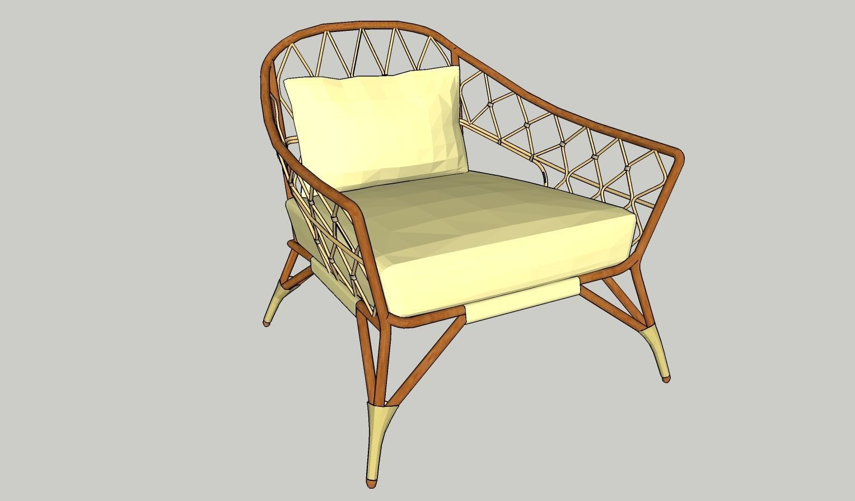 Beau ... Stockholm Ikea Rattan Chair 3d Model Low Poly Max Obj 3ds Fbx Dae Skp 5  ...