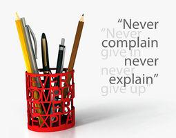 quotes pen holder 3d print model