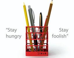steve jobs quote pen holder 3d printable model