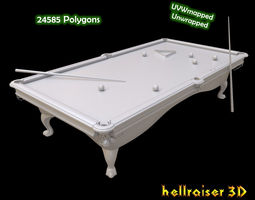 Pool Table 3D model low-poly