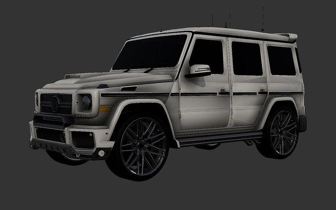 brabus g500 mercedes benz 3d model luxury suv 3d model obj mtl 3ds fbx stl blend dae 1