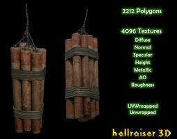 Dynamite - Textured 3D model