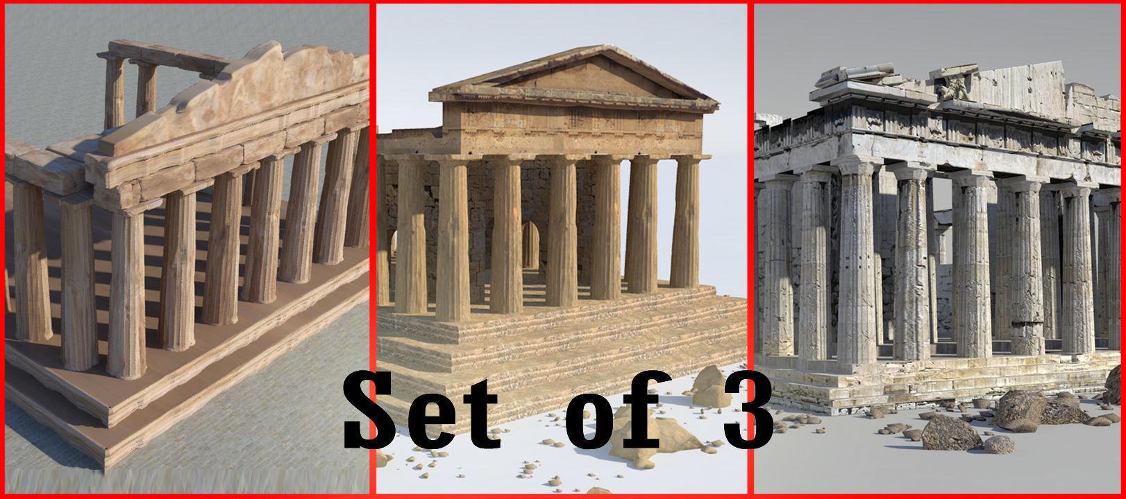 Parthenon-Set of 3