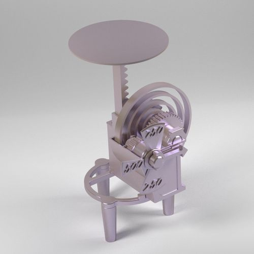 kitchen scale 3d model stl 1