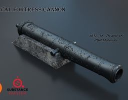 fortress Medieval Fortress Cannon PBR 3D model