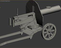 3D asset Machine gun Maxim