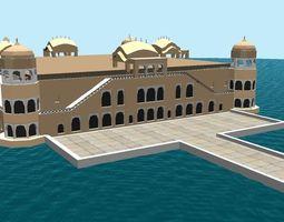Jal Mahal 3D model mahal low-poly