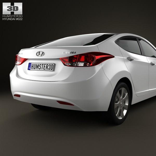 3D Hyundai Elantra i35 Sedan 2012  CGTrader