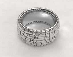 3D printable model Crocodile leather ring crocodile