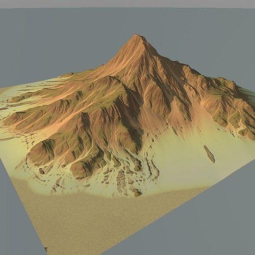 lowpoly mountain x1 3d model max obj mtl 3ds fbx c4d lwo lw lws 1