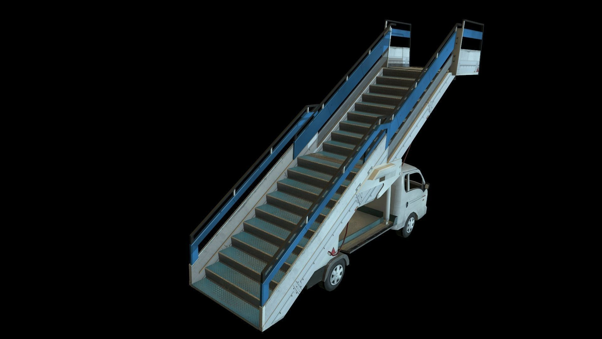 Airport boarding stair truck