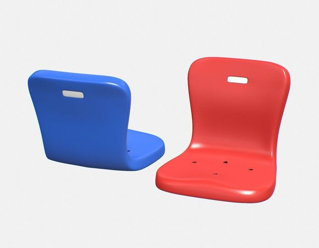 stadium seat 2 3d model low-poly max obj mtl 3ds fbx c4d stl 1