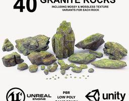 Granite Rock Pack 3D asset low-poly