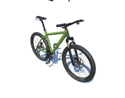 Mountain Bike with LOD 3D model