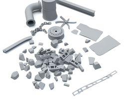 Industrial debris 3D model