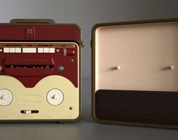 MG56 Retro Bobbin Tape Recorder 3D model
