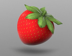 Strawberry 3D asset